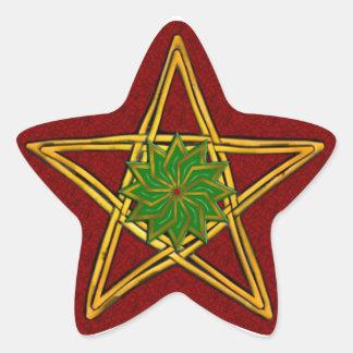 Double Woven Wicker Pentagram 5 - Sticker