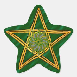 Double Woven Wicker Pentagram #7 - Sticker
