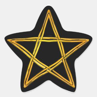 Double Woven Wicker Pentagram #8 - Sticker