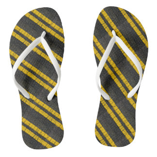 Double Yellow Line Flip Flops