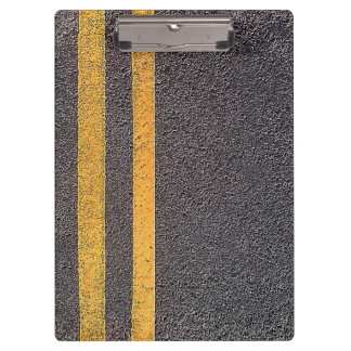 Double Yellow Road Lines Clipboard