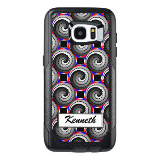 Double Yin Yang Spiral by Kenneth Yoncich OtterBox Samsung Galaxy S7 Edge Case