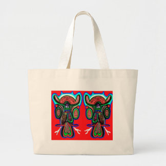 DoubleBull  Double Bull Party Poster Jumbo Tote Bag
