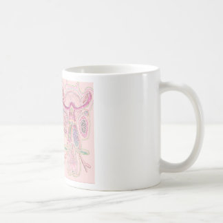 DoubleBull Pink Basic White Mug