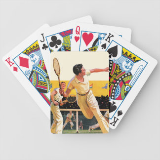 Doubles Tennis Match Bicycle Playing Cards