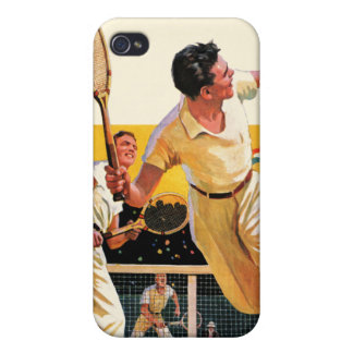 Doubles Tennis Match iPhone 4 Cover