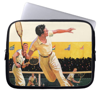 Doubles Tennis Match Laptop Sleeve