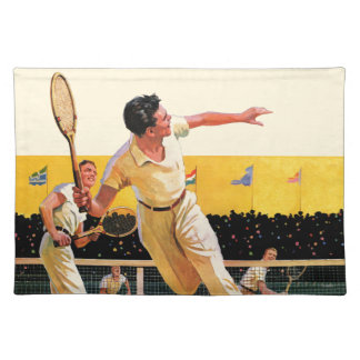 Doubles Tennis Match Placemat