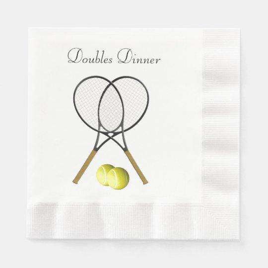 Doubles Tennis Sport Custom Paper Napkins