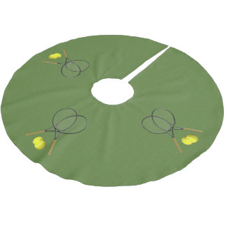 Doubles Tennis Sport Theme Brushed Polyester Tree Skirt
