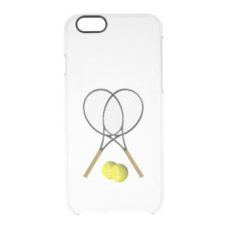 Doubles Tennis Sport Theme Clear iPhone 6/6S Case