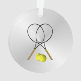 Doubles Tennis Sport Theme Silver