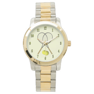 Doubles Tennis Sport Theme Watch