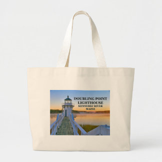 Doubling Point Lighthouse, Arrowsic Island, Maine Large Tote Bag