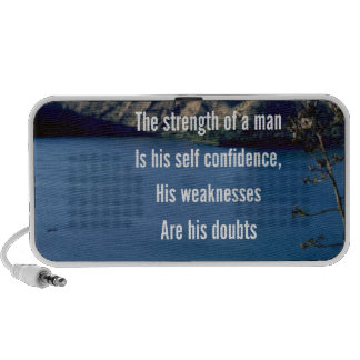 Doubt and self confidence travelling speaker