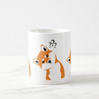 Doubtful Shiba cup inu Basic White Mug