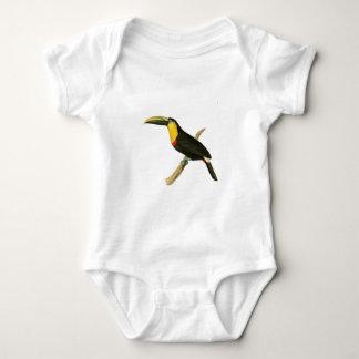 Doubtful Toucan Bird Illustration by William Swain Baby Bodysuit