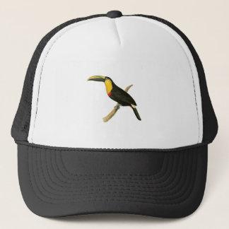 Doubtful Toucan Bird Illustration by William Swain Trucker Hat