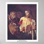 Doubting Thomas By Honthorst Gerard Van Poster