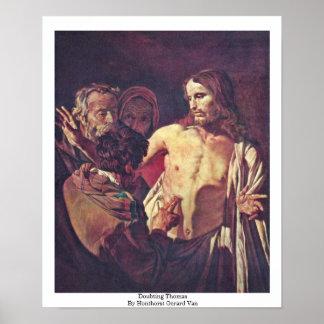 Doubting Thomas By Honthorst Gerard Van Print