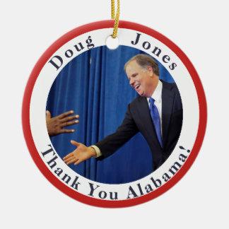 Doug Jones - Thank You Alabama - Your Text on Back Christmas Ornament