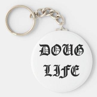 Doug Life Basic Round Button Key Ring