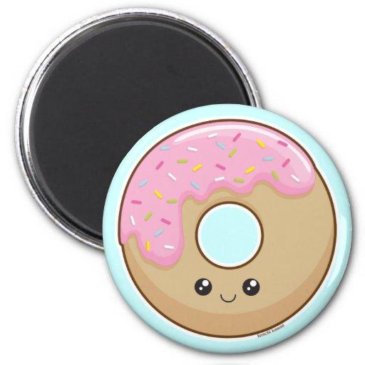 Doughnut 6 Cm Round Magnet