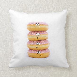 Doughnut and marshmallow character pillow throw cushions