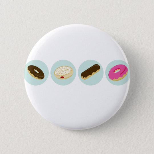 Doughnut Bakery Icons 6 Cm Round Badge