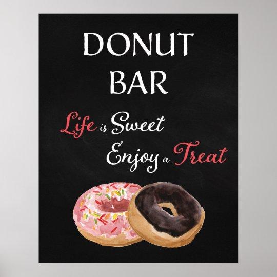 Doughnut Bar Wedding Sign-Life is Sweet Poster