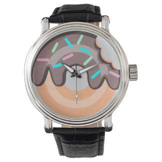 Doughnut Black Vintage Leather Watch