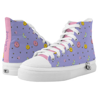 Doughnut Bug Me, High-Tops by idyl-wyld Printed Shoes