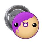 Doughnut Button Purple