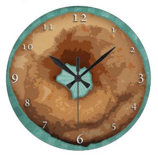 Doughnut Clock: plain or personalized Large Clock