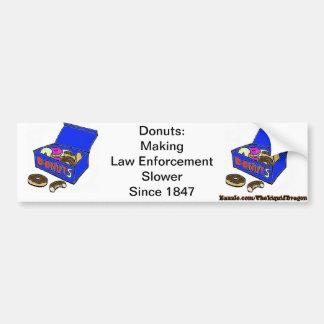 Doughnut/Cop History Bumper Sticker