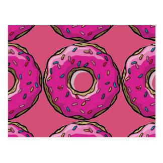 doughnut design postcard