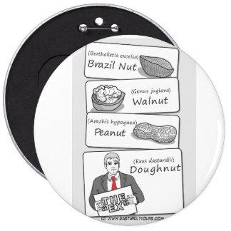 'Doughnut' Divorce 6 Cm Round Badge