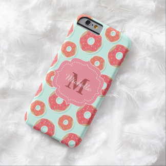 Doughnut Donut Pattern, Pink and Blue Barely There iPhone 6 Case