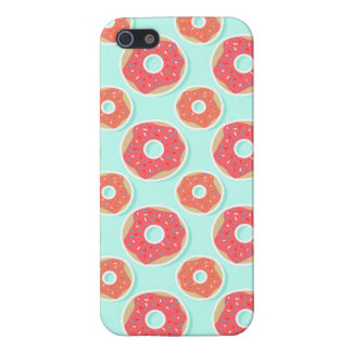 Doughnut Donut Pattern, Pink and Blue iPhone 5/5S Cases