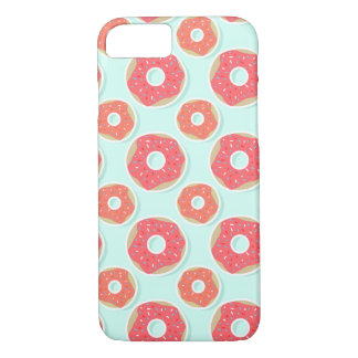 Doughnut Donut Pattern, Pink and Blue iPhone 7 Case
