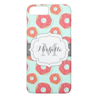 Doughnut Donut Pattern, Pink and Blue iPhone 7 Plus Case