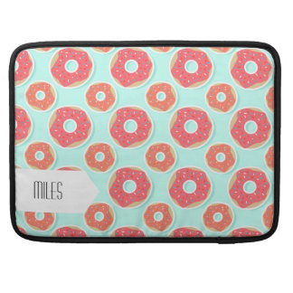 Doughnut Donut Pattern, Pink and Blue Sleeves For MacBooks