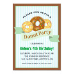 Doughnut Party for Child's Birthday 13 Cm X 18 Cm Invitation Card