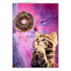 Doughnut Praying Cat Card