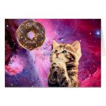 Doughnut Praying Cat Note Card