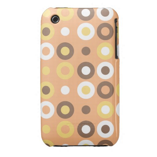 Doughnut Retro Patterned Cover, Pink iPhone 3 Cover