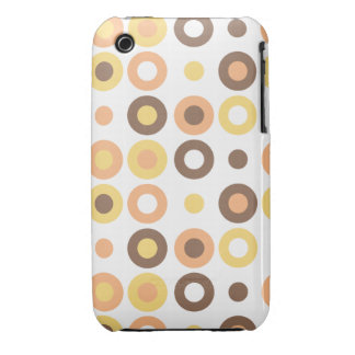 Doughnut Retro Patterned Cover, White iPhone 3 Cases