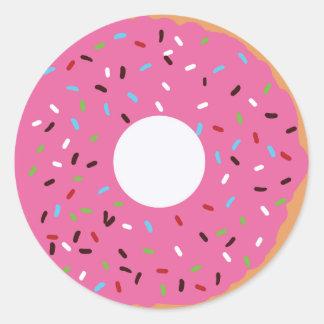 Doughnut Thank you Classic Round Sticker