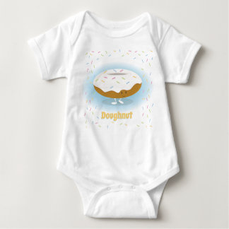 Doughnut with Sprinkles character | Baby bodysuit