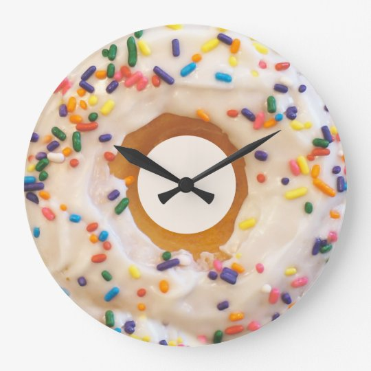 Doughnut With Sprinkles Wall Clocks